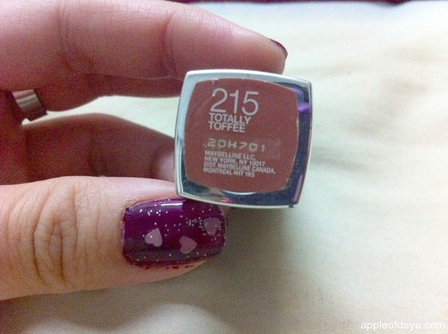 Maybelline 215 Totally Toffee lip stick